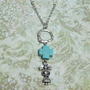 Jewelry - Silver & Turquoise Ethnic Tribal Pendant Necklace
